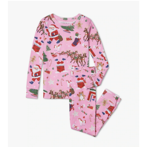 Hatley Long-Sleeve Night Before Christmas (Pink) with Book - Hanging