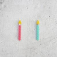 Rachel O's Happy Birthday Candle Dangle Earrings Laser Cut Acrylic