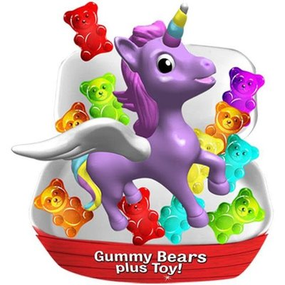 Redstone Foods Bearied Treasure Chest - Gummies + Toy Treasure (Unicorns, Narwhals and Friends)