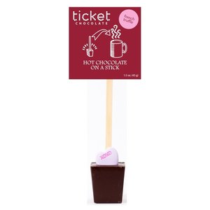 Ticket Chocolate Hot Chocolate on a Stick (Single) - Valentine's French Truffle