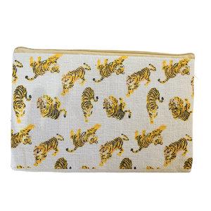 The Royal Standard LSU Tiger Cosmetic Bag - Black/White/Orange Tigers - 10x6