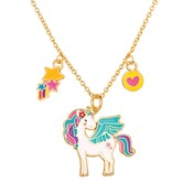 Girl Nation Charming Whimsy Necklace - Unicorn Glitter