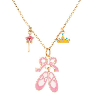 Girl Nation Charming Whimsy Necklace - Ballet Shoes