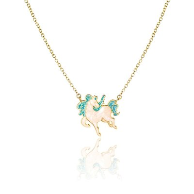 Girl Nation Dancing Pony Necklace - Blue