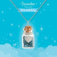 Girl Nation Birthstone Bottle Gems Necklace - December