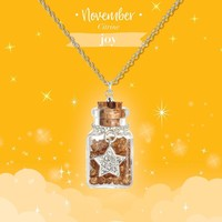 Girl Nation Birthstone Bottle Gems Necklace - November