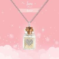Girl Nation Birthstone Bottle Gems Necklace - June