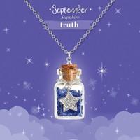 Girl Nation Birthstone Bottle Gems Necklace - September