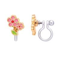 Girl Nation CLIP ON Cutie Earrings- Little Pink Flower