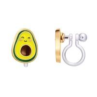 Girl Nation CLIP ON Cutie Earrings- Avocado