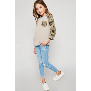Hayden Long-Sleeve Camo Baseball Tee (G6159)