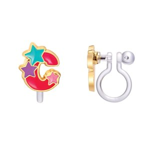 Girl Nation CLIP ON Cutie Initial Earrings- C