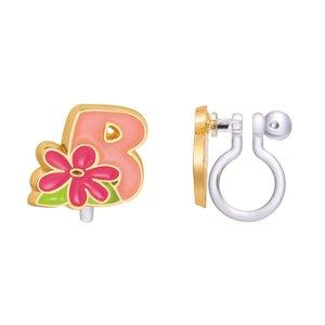 Girl Nation CLIP ON Cutie Initial Earrings- B