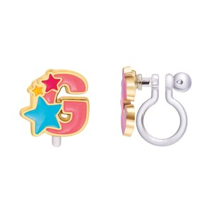 Girl Nation CLIP ON Cutie Initial Earrings- G