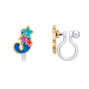 Girl Nation CLIP ON Cutie Initial Earrings- J