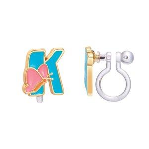 Girl Nation CLIP ON Cutie Initial Earrings- K