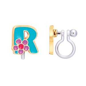 Girl Nation CLIP ON Cutie Initial Earrings- R