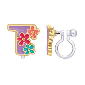 Girl Nation CLIP ON Cutie Initial Earrings- T