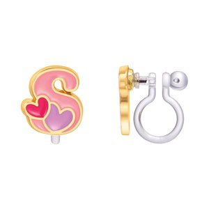 Girl Nation CLIP ON Cutie Initial Earrings- S