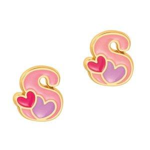 Girl Nation Cutie Initial Studs Earrings - S