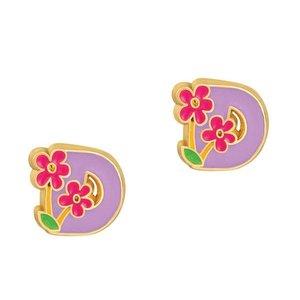 Girl Nation Cutie Initial Studs Earrings - D