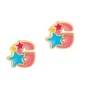 Girl Nation Cutie Initial Studs Earrings - G
