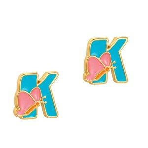 Girl Nation Cutie Initial Studs Earrings - K