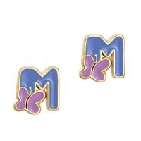 Girl Nation Cutie Initial Studs Earrings - M