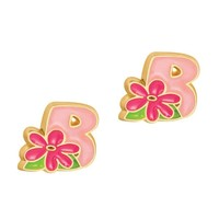 Girl Nation Cutie Initial Studs - B