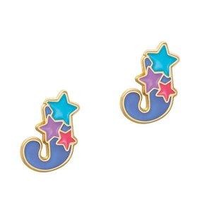 Girl Nation Cutie Initial Studs Earrings - J
