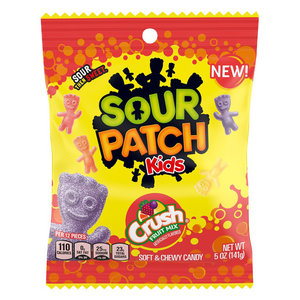 Redstone Foods Sour Patch Kids - Crush Fruit Mix (5oz Peg Bag)