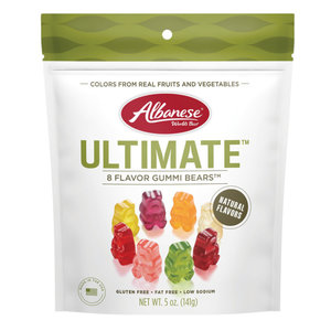 Redstone Foods Albanese Gummi Bears - Ultimate 8 Flavors (5oz Peg Bag)