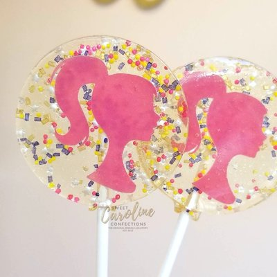 Sweet Caroline Confections Barbie Lollipops - Raspberry
