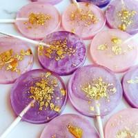 Sweet Caroline Confections Purple & Pink Watercolor Lollipop - Passion Fruit