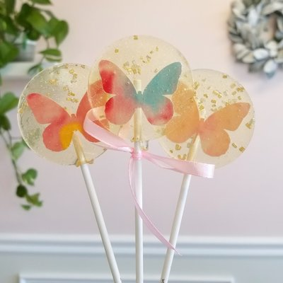 Sweet Caroline Confections Butterfly Spring Lollipop - Guava