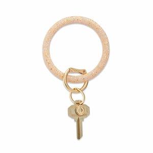 Oventure Confetti Collection - Silicone Big O® Key Ring Gold Rush Confetti