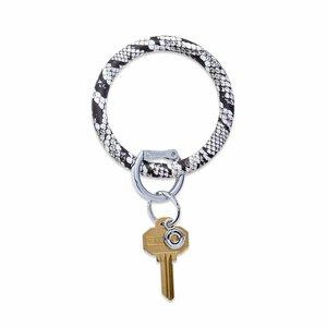 Oventure Print Collection - Silicone Big O® Key Ring Tuxedo Snakeskin