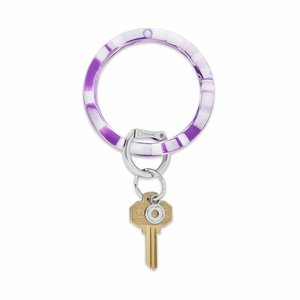 Oventure Marble Collection - Silicone Big O® Key Ring Deep Purple Marble