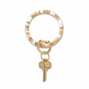 Oventure Marble Collection - Silicone Big O® Key Ring Gold Rush Marble