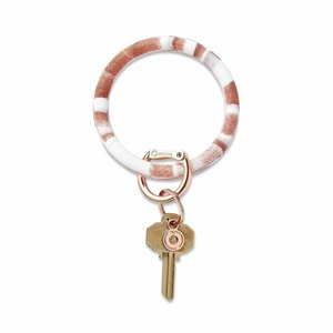 Oventure Marble Collection - Silicone Big O® Key Ring Rose Gold Marble