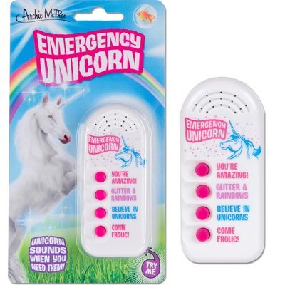 Archie McPhee Button - Emergency Unicorn