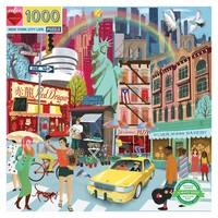 eeBoo New York City Life - 1000 Piece Square Puzzle