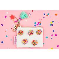 Taylor Elliot Designs Mini Multi-Pom Cardholder Keychain Pouch