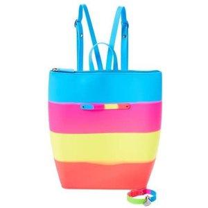 American Jewel Unicorn Tie Dye - Yummy Gummy - Zipper Bag Backpack *Bracelet & Charm Sold Separately*