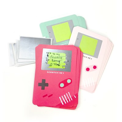 Inklings Paperie Scratch-off Gamer Valentine Cards - Red (18 Pack)