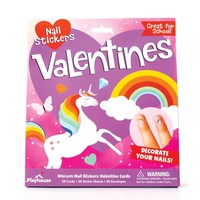 Paper House Productions Unicorn Nail Stickers Valentine Cards