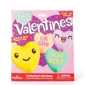Paper House Productions Candy Heart Valentine Cards - Puffy Sticker With Every Card