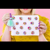 Taylor Elliot Designs Multi-Colored Pom Pom Pouch