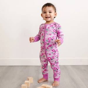 Little Sleepies Sweetheart Floral Zippy Bamboo Pajama Set