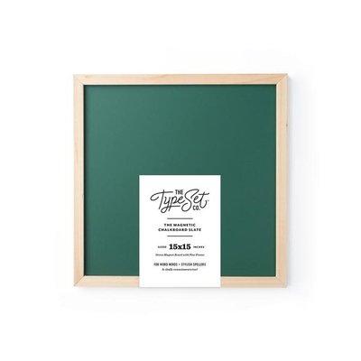 The Type Set Co. 15x15 Magnetic Letter Board Slate - Green Chalkboard